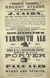Advertisement for the Prince Regent, public house